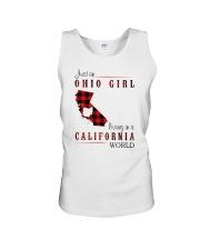 OHIO GIRL LIVING IN CALIFORNIA WORLD Unisex Tank thumbnail
