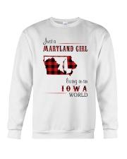 MARYLAND GIRL LIVING IN IOWA WORLD Crewneck Sweatshirt thumbnail