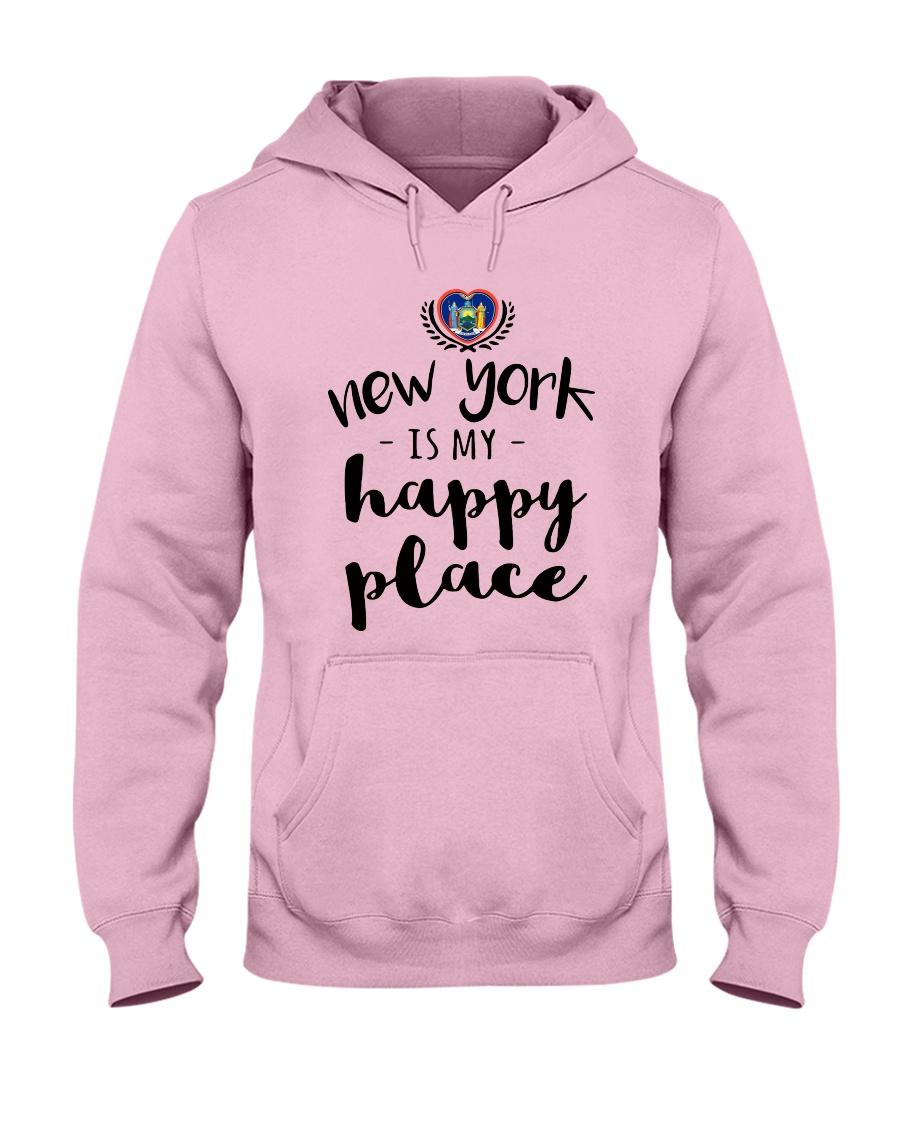 NEW YORK IS MY HAPPY PLACE Hooded Sweatshirt