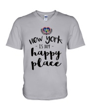 NEW YORK IS MY HAPPY PLACE V-Neck T-Shirt thumbnail