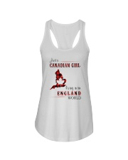 CANADIAN GIRL LIVING IN ENGLAND WORLD Ladies Flowy Tank thumbnail