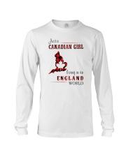CANADIAN GIRL LIVING IN ENGLAND WORLD Long Sleeve Tee thumbnail