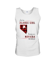 ALASKA GIRL LIVING IN NEVADA WORLD Unisex Tank thumbnail