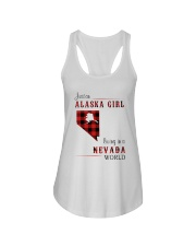 ALASKA GIRL LIVING IN NEVADA WORLD Ladies Flowy Tank thumbnail