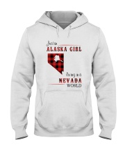 ALASKA GIRL LIVING IN NEVADA WORLD Hooded Sweatshirt thumbnail