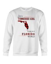TENNESSEE GIRL LIVING IN FLORIDA WORLD Crewneck Sweatshirt thumbnail
