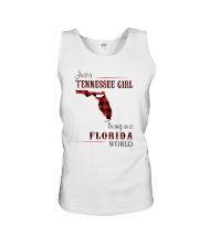 TENNESSEE GIRL LIVING IN FLORIDA WORLD Unisex Tank thumbnail