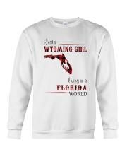 WYOMING GIRL LIVING IN FLORIDA WORLD Crewneck Sweatshirt thumbnail