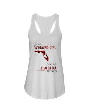 WYOMING GIRL LIVING IN FLORIDA WORLD Ladies Flowy Tank thumbnail