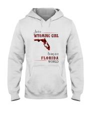 WYOMING GIRL LIVING IN FLORIDA WORLD Hooded Sweatshirt thumbnail