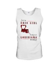 OHIO GIRL LIVING IN LOUISIANA WORLD Unisex Tank thumbnail