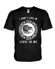 NEW ZEALAND LIVES IN ME V-Neck T-Shirt thumbnail