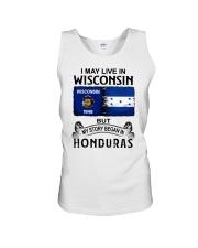 LIVE IN WISCONSIN BEGAN IN HONDURAS Unisex Tank thumbnail