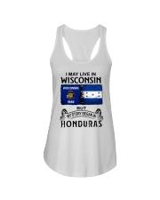 LIVE IN WISCONSIN BEGAN IN HONDURAS Ladies Flowy Tank thumbnail