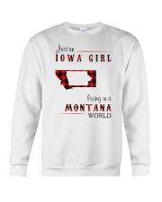 IOWA GIRL LIVING IN MONTANA WORLD Crewneck Sweatshirt thumbnail