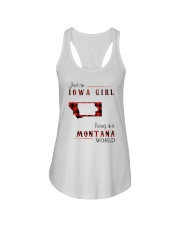 IOWA GIRL LIVING IN MONTANA WORLD Ladies Flowy Tank thumbnail