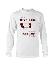 IOWA GIRL LIVING IN MONTANA WORLD Long Sleeve Tee thumbnail