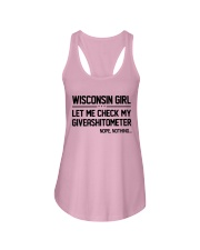 WISCONSIN GIRL LET ME CHECK MY GIVERASHITOMETER Ladies Flowy Tank thumbnail