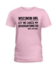 WISCONSIN GIRL LET ME CHECK MY GIVERASHITOMETER Ladies T-Shirt thumbnail
