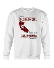 COLORADO GIRL LIVING IN CALIFORNIA WORLD Crewneck Sweatshirt thumbnail