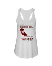 COLORADO GIRL LIVING IN CALIFORNIA WORLD Ladies Flowy Tank thumbnail