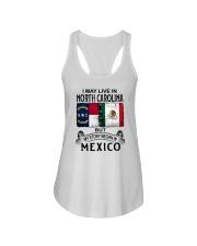 LIVE IN NORTH CAROLINA BEGAN IN MEXICO Ladies Flowy Tank thumbnail
