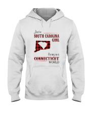 SOUTH CAROLINA GIRL LIVING IN CONNECTICUT WORLD Hooded Sweatshirt thumbnail