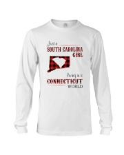 SOUTH CAROLINA GIRL LIVING IN CONNECTICUT WORLD Long Sleeve Tee thumbnail