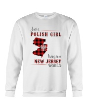 POLISH GIRL LIVING IN NEW JERSEY WORLD Crewneck Sweatshirt thumbnail