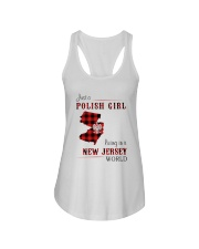 POLISH GIRL LIVING IN NEW JERSEY WORLD Ladies Flowy Tank thumbnail