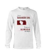 WISCONSIN GIRL LIVING IN KANSAS WORLD Long Sleeve Tee thumbnail