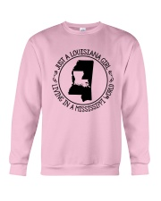 LOUISIANA GIRL LIVING IN A MISSISSIPPI WORLD Crewneck Sweatshirt thumbnail