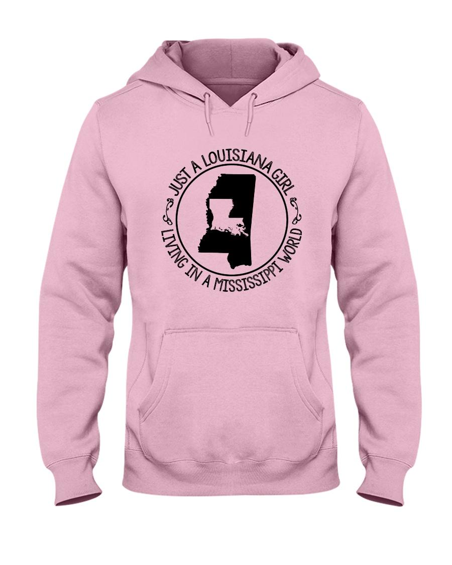 LOUISIANA GIRL LIVING IN A MISSISSIPPI WORLD Hooded Sweatshirt