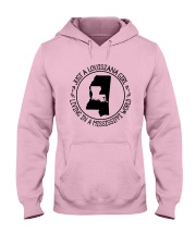 LOUISIANA GIRL LIVING IN A MISSISSIPPI WORLD Hooded Sweatshirt front