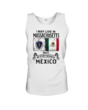 LIVE IN MASSACHUSETTS BEGAN IN MEXICO Unisex Tank thumbnail
