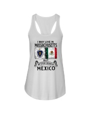 LIVE IN MASSACHUSETTS BEGAN IN MEXICO Ladies Flowy Tank thumbnail