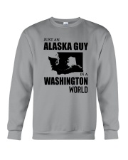 JUST AN ALASKA GUY IN A WASHINGTON WORLD Crewneck Sweatshirt thumbnail
