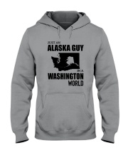 JUST AN ALASKA GUY IN A WASHINGTON WORLD Hooded Sweatshirt thumbnail