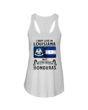 LIVE IN LOUISIANA BEGAN IN HONDURAS Ladies Flowy Tank thumbnail