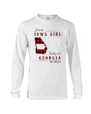 IOWA GIRL LIVING IN GEORGIA WORLD Long Sleeve Tee thumbnail