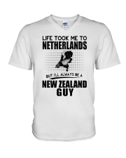 NEW ZEALAND GUY LIFE TOOK TO NETHERLANDS V-Neck T-Shirt thumbnail