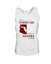 FLORIDA GIRL LIVING IN ARIZONA WORLD Unisex Tank thumbnail