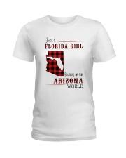 FLORIDA GIRL LIVING IN ARIZONA WORLD Ladies T-Shirt thumbnail