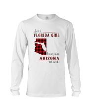 FLORIDA GIRL LIVING IN ARIZONA WORLD Long Sleeve Tee thumbnail