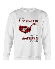 NEW ZEALAND GIRL LIVING IN AMERICAN WORLD Crewneck Sweatshirt thumbnail