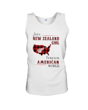 NEW ZEALAND GIRL LIVING IN AMERICAN WORLD Unisex Tank thumbnail