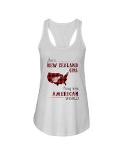 NEW ZEALAND GIRL LIVING IN AMERICAN WORLD Ladies Flowy Tank thumbnail