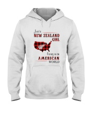 NEW ZEALAND GIRL LIVING IN AMERICAN WORLD Hooded Sweatshirt thumbnail