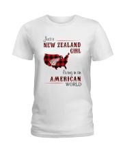 NEW ZEALAND GIRL LIVING IN AMERICAN WORLD Ladies T-Shirt thumbnail
