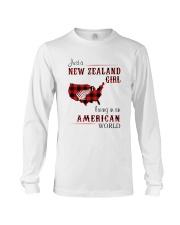 NEW ZEALAND GIRL LIVING IN AMERICAN WORLD Long Sleeve Tee thumbnail